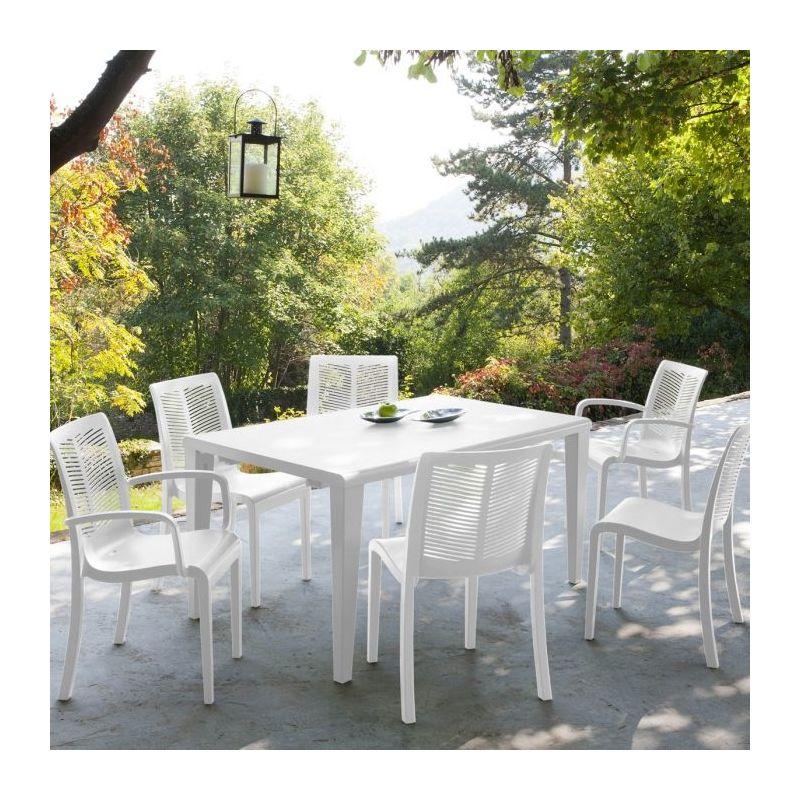 table de jardin alpha 150 grosfillex