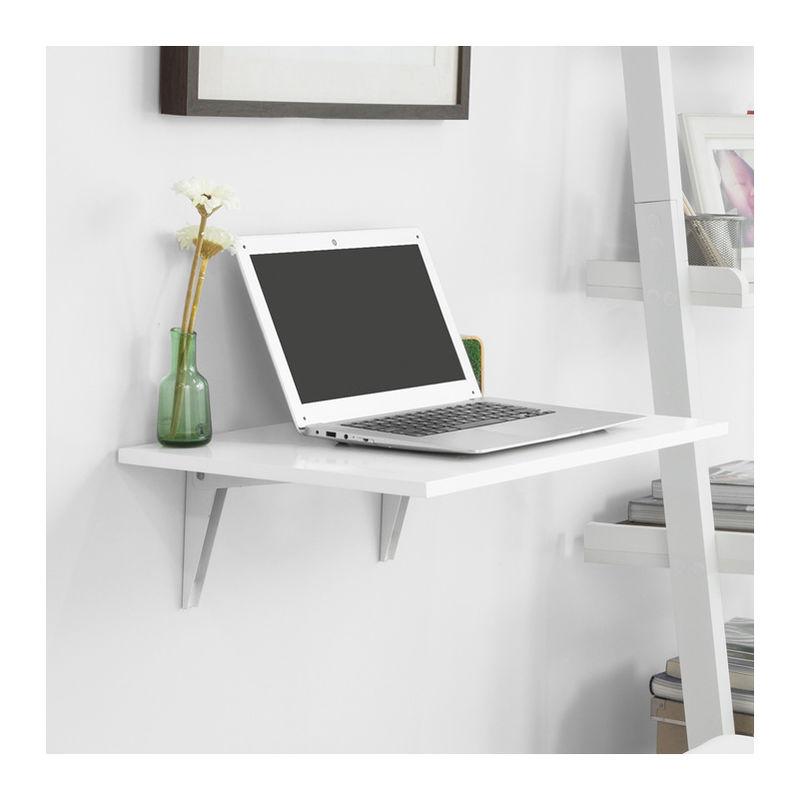 table murale rabattable en bois table de cuisine table enfant l60 p40cm blanc fwt21 w sobuy