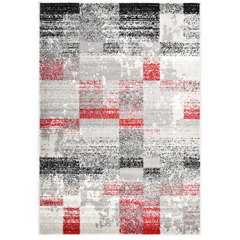tapis rouge et gris a prix mini