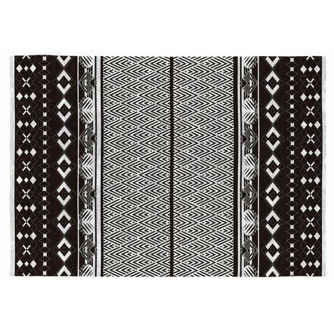 tapis noir et blanc a prix mini