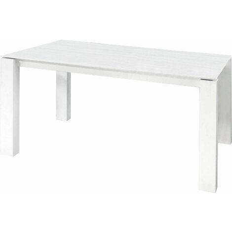 Tavolo Da Pranzo Moderno Di Design Allungabile Rettangolare Cm 90 X 160205250 Bianco Per Arredo Casa Cucina Sala Da Pranzo