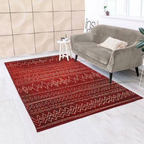 tapis salon rouge a prix mini
