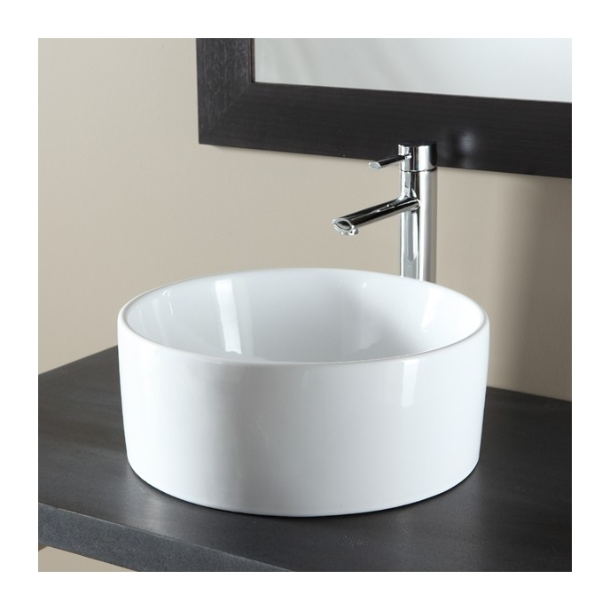 Vasque A Poser Ronde En Ceramique Blanc 111049