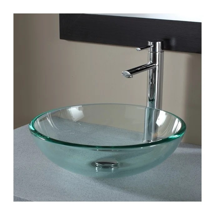 Vasque A Poser Ronde En Verre Transparent 111050