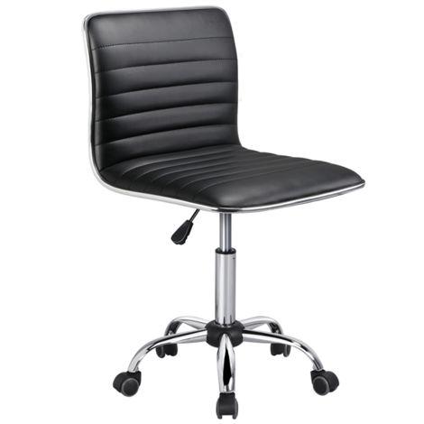 yaheetech chaise de bureau a dossier bas fauteuil de travail a roulettes chaise pour ordinateur assise reglable sans accoudoir max 120 kg 48 5 x