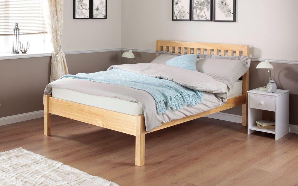 silentnight hayes pine wooden bed frame single