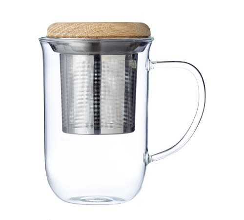 mug avec infuseur viva scandinavia avec couvercle en bois 35 cl