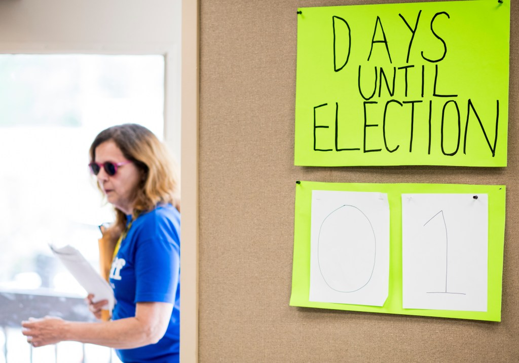 UNITED STATES - APRIL 17: Volunteers for Jon Ossoff, Democratic candidate for the Georgia 6th Congressional district, arrive in his campaign office in Atlanta, Ga., to canvass the district on Monday, April 17, 2017, one day before the special election to fill Tom Price's seat. (Photo By Bill Clark/CQ Roll Call)