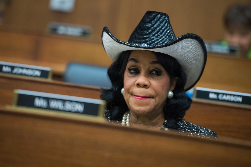 UNITED STATES - MAY 2: Rep. Frederica Wilson, D-Fla., a House Transportation and Infrastructure Committee hearing in Rayburn Building titled