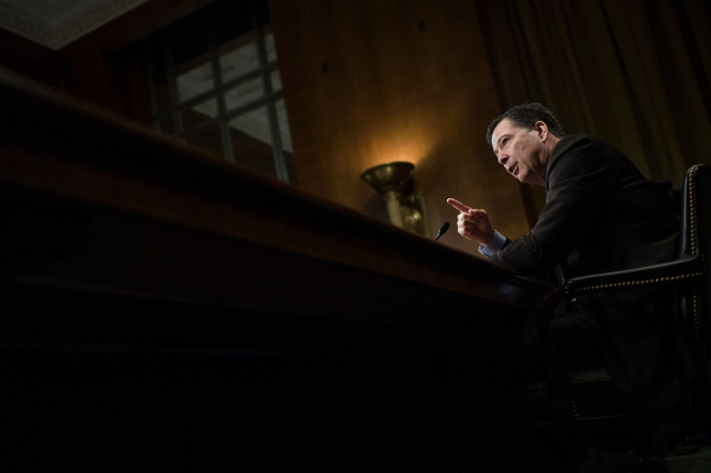 UNITED STATES - MAY 3: FBI Director James Comey testifies before a Senate Judiciary Committee hearing in Dirksen Building titled