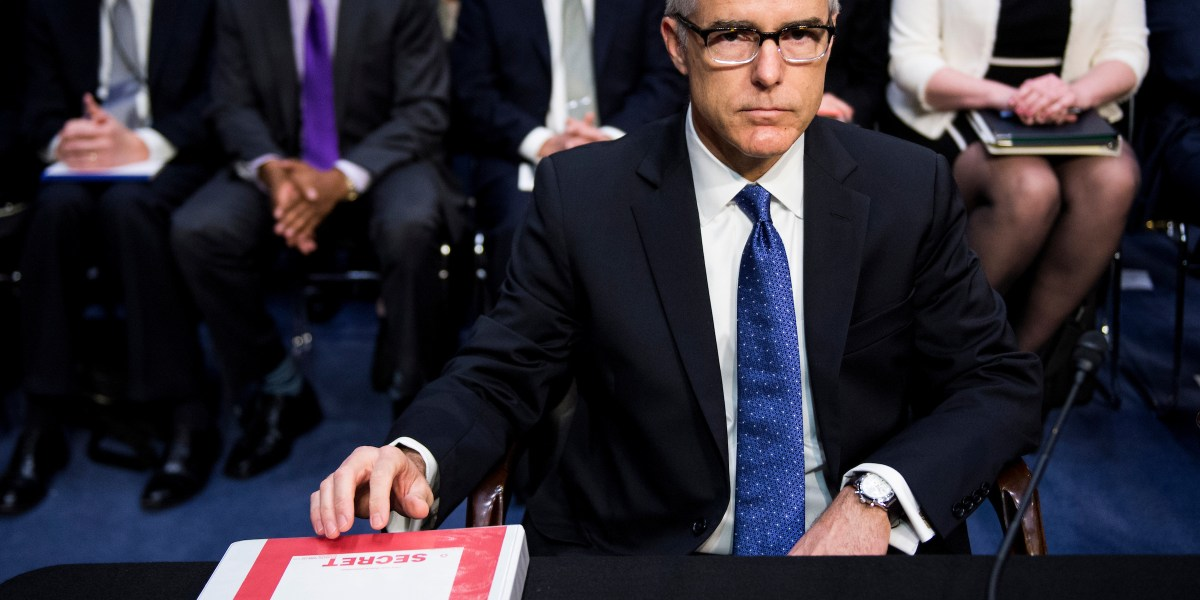 Trump denies calling Andrew McCabe's wife a 'loser' as feud intensifies - Roll Call