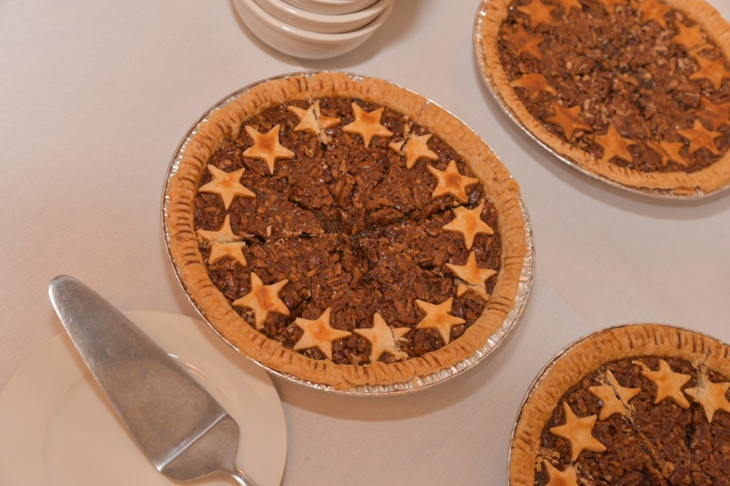 Pecan pie from Kenny's Great Pies rounded out the meal. (Photo courtesy of Isakson's office)