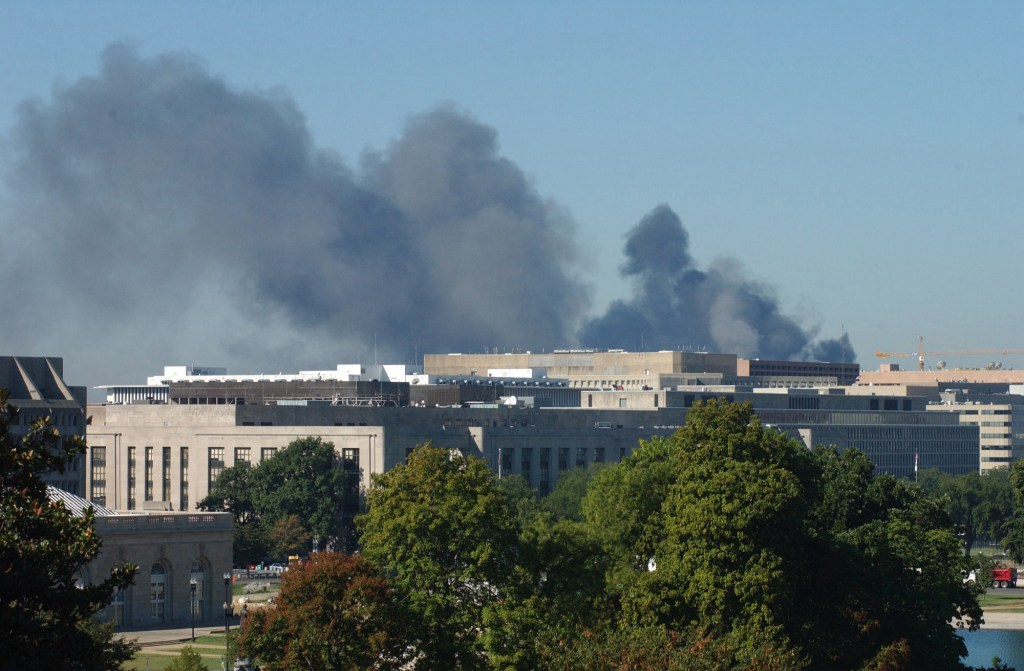 Smoke from the Pentagon, as seen from the West Front of the Capitol. Douglas Graham/CQ Roll Call File Photo