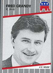 """Fred Grandy was """"Gopher"""" on """"The Love Boat,"""" a sitcom in the 1970s and the 1980s. He represented Iowa's 6th district in the late 1980s and early 1990s as a Republican. (Collection of the U.S. House of Representatives)"""