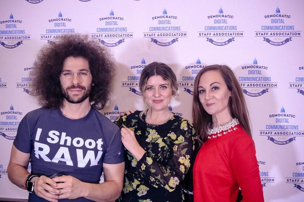 photographer Jared Polin, stylist Mary Elizabeth and staffer Jessica Presley. (Democratic Digital Communications Staff Association)