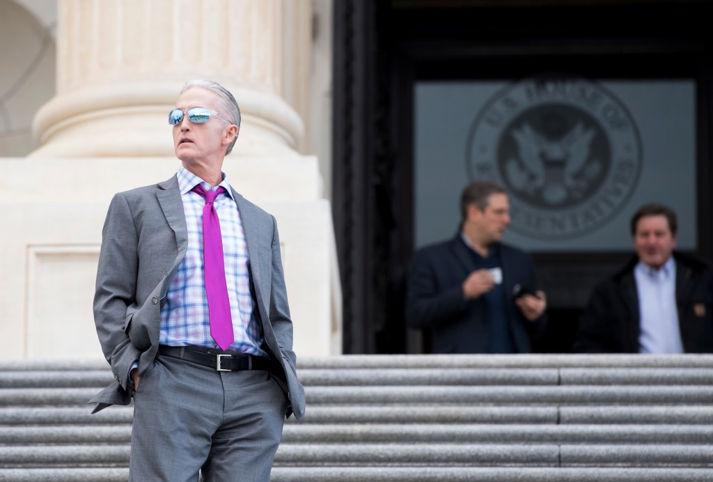 UNITED STATES - DECEMBER 14: Rep. Trey Gowdy, R-S.C., leaves the Capitol following the final votes of the week on Thursday, Dec. 14, 2017. (Photo By Bill Clark/CQ Roll Call)