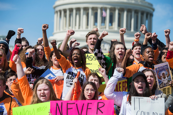 A group from Pittsburgh gathers on the East Front of the Capitol. (Tom Williams/CQ Roll Call)