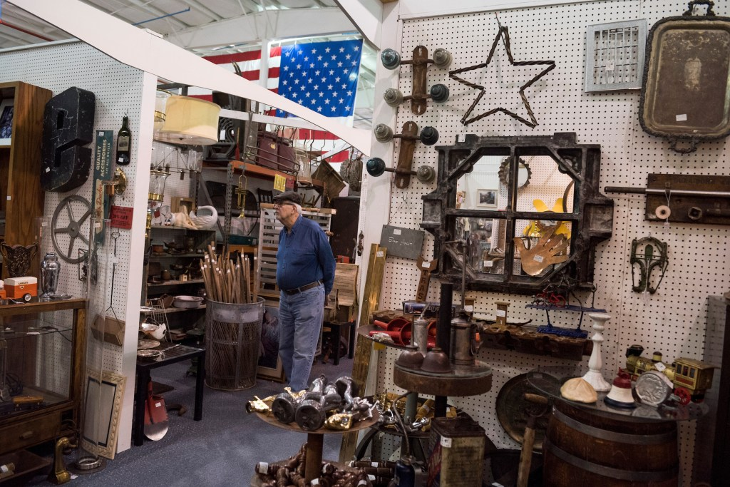 UNITED STATES - APRIL 6: A shopper browses merchandise at the Exit 76 Antique Mall in Edinburgh, Ind., on April 6, 2018. The store is owned by Greg Pence, candidate for the Republican nomination for Indiana's 6th Congressional District. (Photo By Tom Williams/CQ Roll Call)