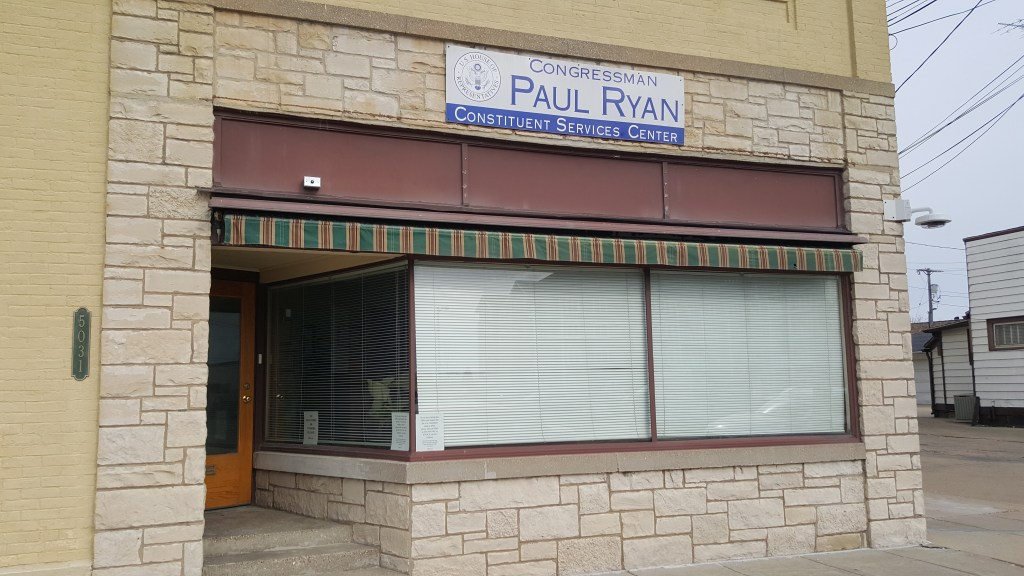 Rep. Paul Ryan's constituent services office in Kenosha, Wis., pictured Sunday, April 8, is open Mondays through Fridays. (Lindsey McPherson/CQ Roll Call)
