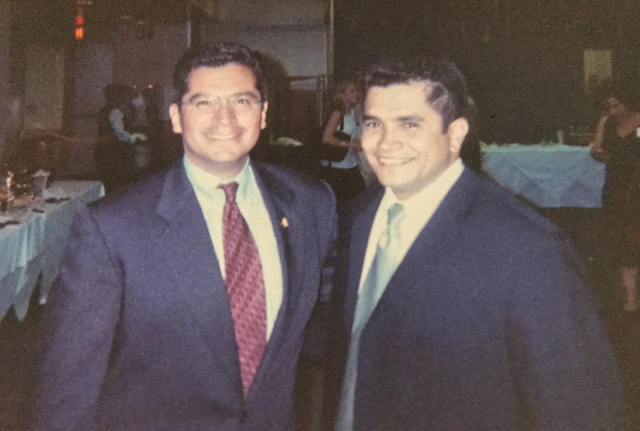 Rep. Jimmy Gomez met his predecessor Xavier Becerra, now Attorney General of California, one year after his Capitol Hill internship. (Courtesy of Gomez)