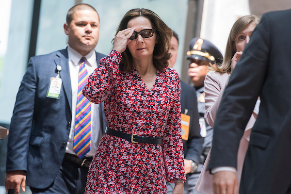UNITED STATES - MAY 7: Gina Haspel, nominee to be director of the CIA, arrives in Hart Building for meetings with Sen. Joe Manchin, D-W.Va., and other senators on May 7, 2018. (Photo By Tom Williams/CQ Roll Call)