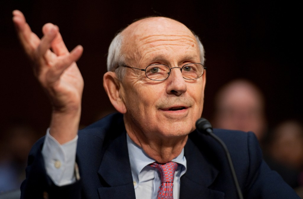 UNITED STATES - OCTOBER 05: Supreme Court Justice Stephen Breyer, testifies before a Senate Judiciary Committee hearing in Hart Building entitled