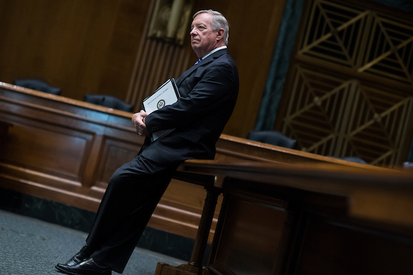 UNITED STATES - JUNE 5: Sen. Richard Durbin, D-Ill., attends a briefing in Dirksen Building on