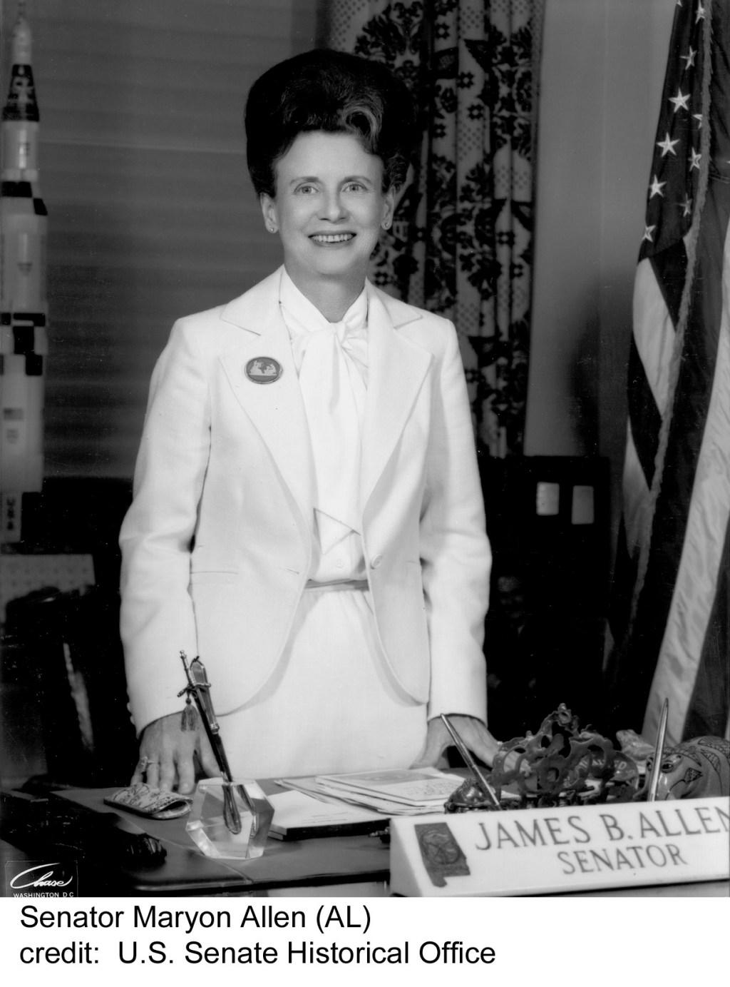 Sen. Maryon Allen, D-Ala., who died on July 23. (Courtesy U.S. Senate Historical Office)