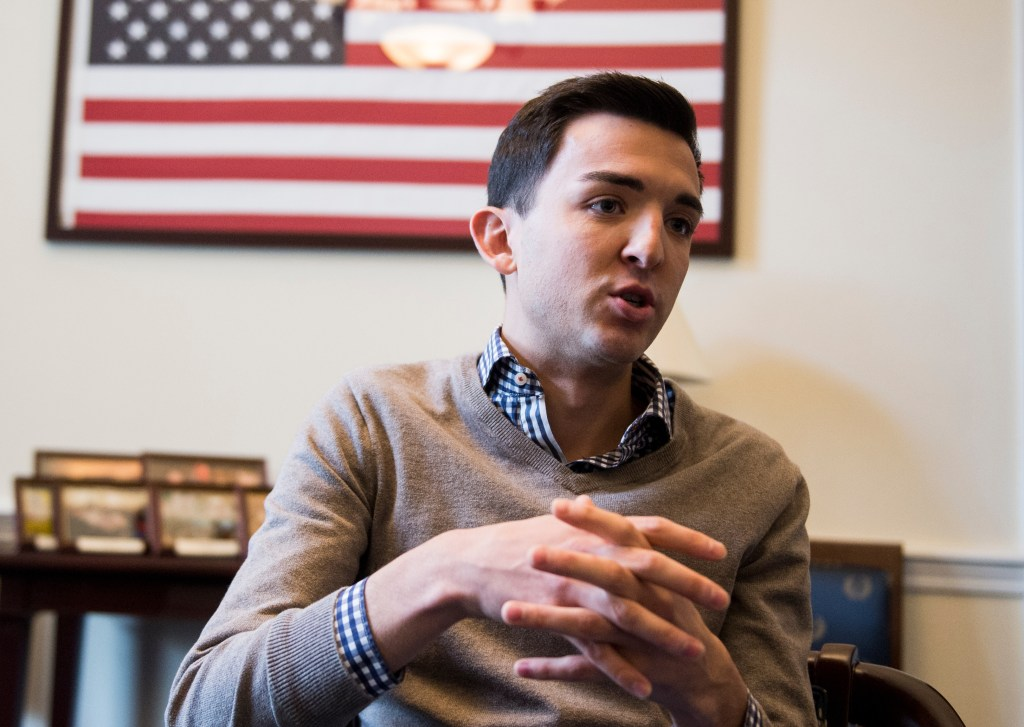 Mitchell Rivard, the president of the LGBT Congressional Staff Association, speaks with Roll Call on Monday, Nov. 28, 2016. (Bill Clark/CQ Roll Call file photo)