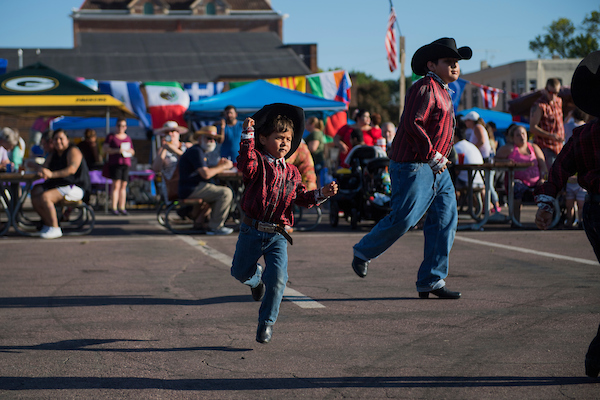 Dancers perform at the Multi-Cultural Fiesta in St. James, Minn. Dan Feehan, Democratic candidate for Minnesota's 1st Congressional District, attended the event. (Tom Williams/CQ Roll Call)