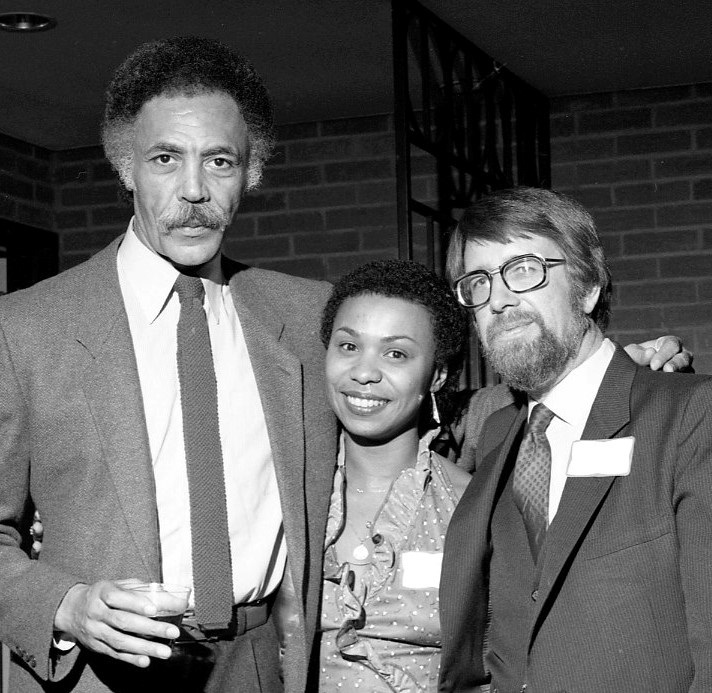 The late Rep. Ron Dellums, left, and Rep. Barbara Lee, middle. (Don Baker Photography)