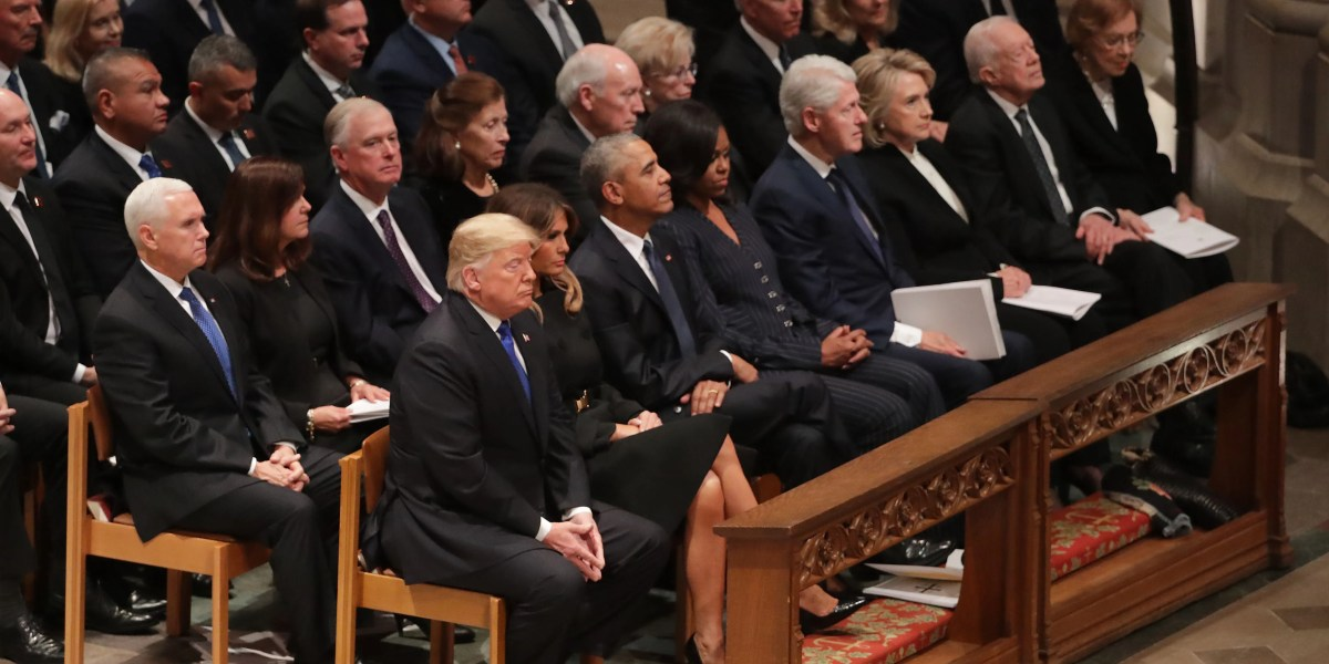 Trump Presence Felt During Poignant Moments Of Bush 41 S Funeral Roll Call