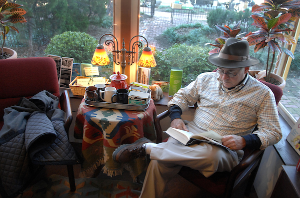 Bill Martin of New Jersey, reads at Riverby Books on East Capitol Street, SE.