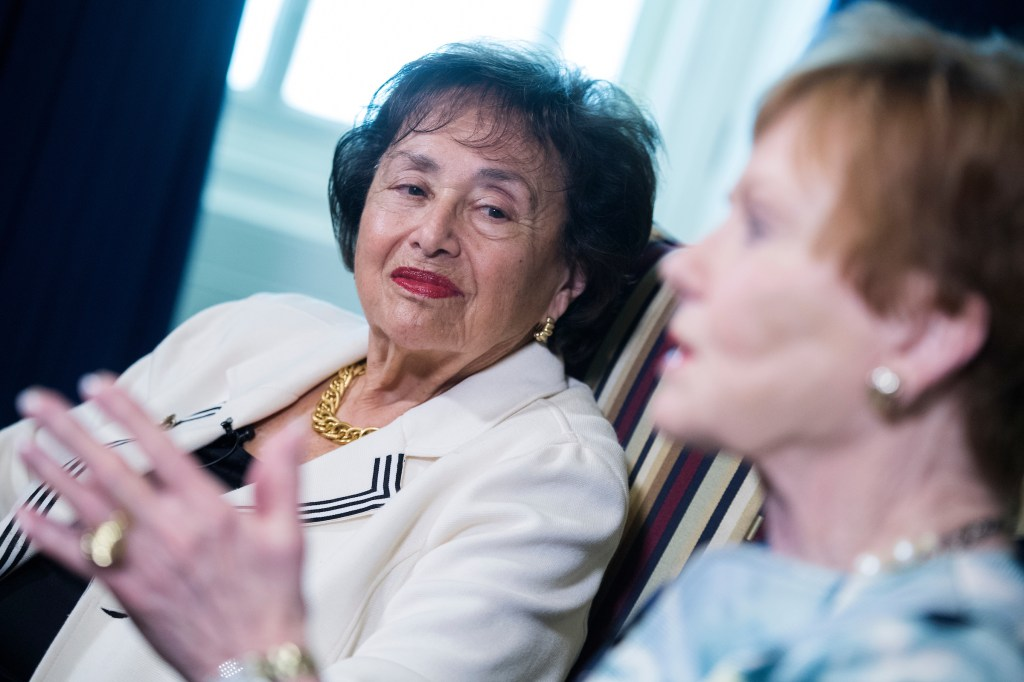 UNITED STATES - APRIL 30: House Appropriations Committee Chairwoman Nita Lowey, D-N.Y., left, and ranking member Rep. Kay Granger, R-Texas, are interviewed by CQ Roll Call in the Capitol on Tuesday, April 30, 2019. (Photo By Tom Williams/CQ Roll Call)