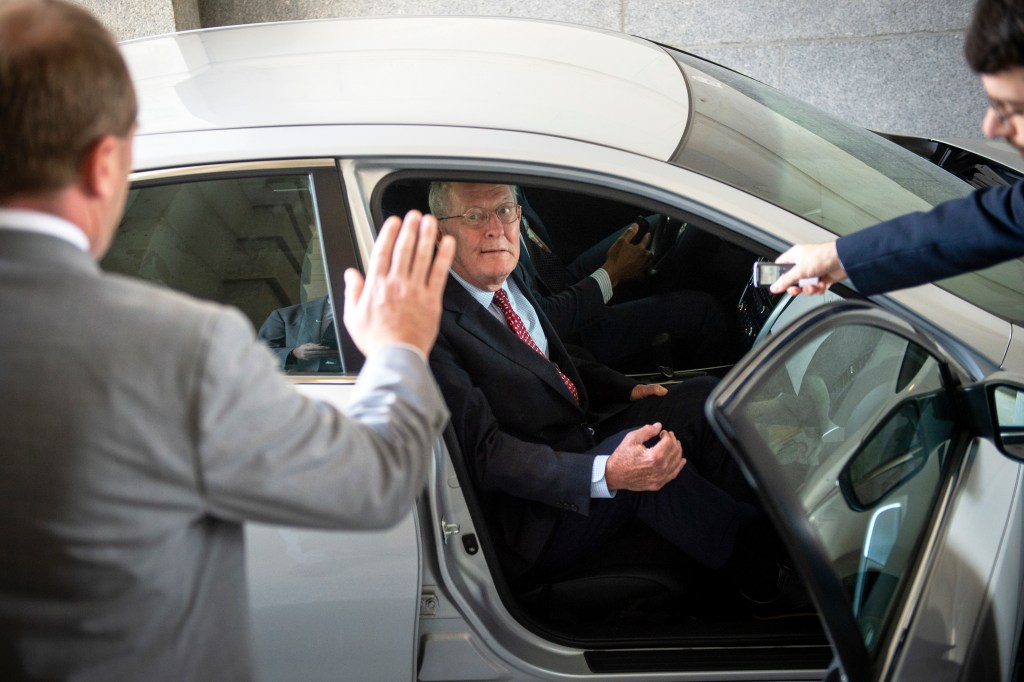 UNITED STATES - AUGUST 1: Sen. Lamar Alexander, R-Tenn., leaves the Capitol for August recess after the final vote on a two-year budget and debt ceiling deal on Thursday August 1, 2019. (Photo by Caroline Brehman/CQ Roll Call)