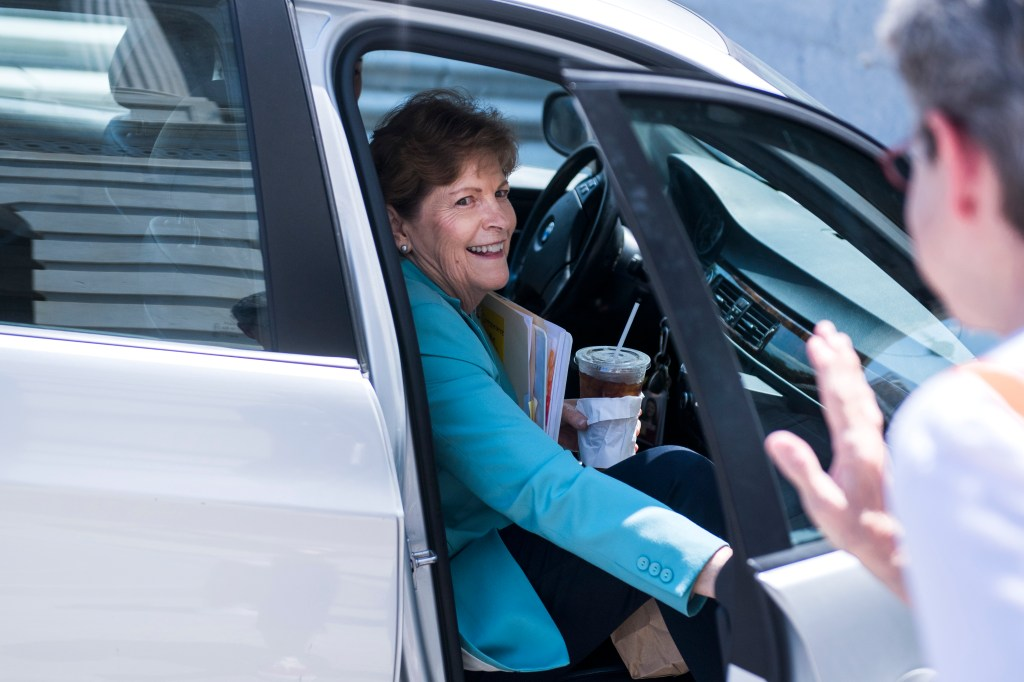 UNITED STATES - AUGUST 1: Sen. Jeanne Shaheen, D-N.H., leaves the Capitol after the Senate passed a two-year budget and debt ceiling bill on August 1, 2019. (Photo By Tom Williams/CQ Roll Call)
