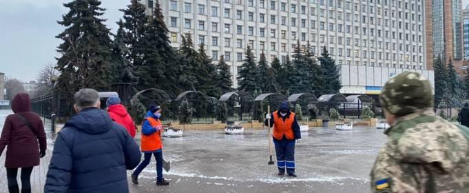 Как Киев пережил время гололеда