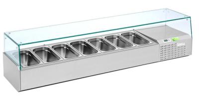 Vitrinette Refrigeree 7 Bacs Gn 1 4 1 60 M Upgreen Metro