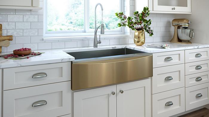 elkay s versatile new farmhouse sink