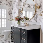 A Black And White Bathroom Beauty In Rochester Midwest Home