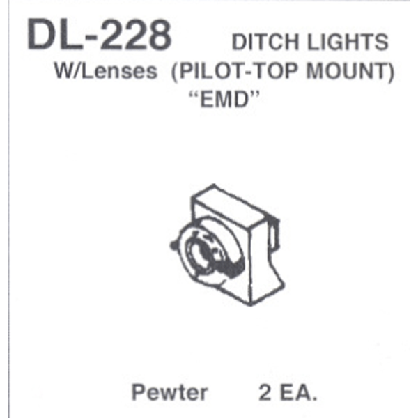 Ditch Lights w// Platforms /& Lenses HO Scale Details West DL-243