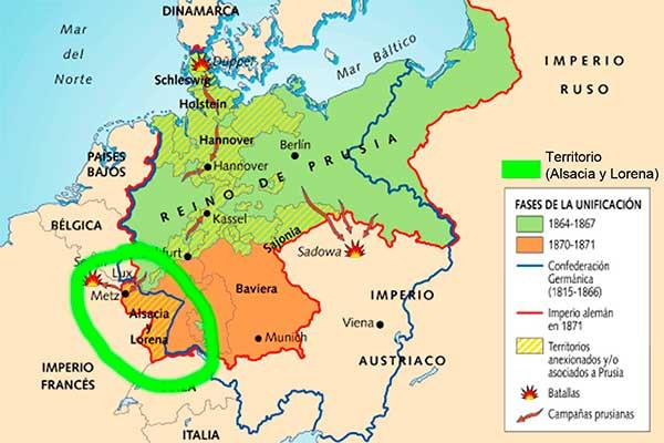 mapa guerra franco-prusiana