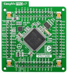 EasyMx PRO v7 MCU stm32f407vgt6