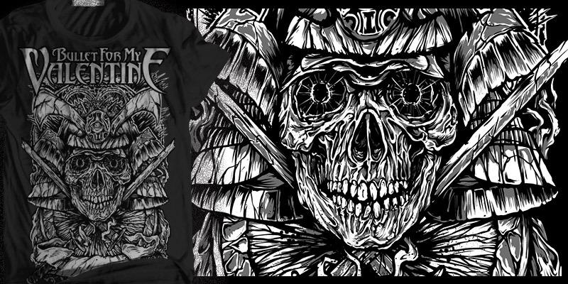 Bullet For My Valentine Last Samurai T Shirt Design By