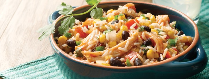 Fiesta Chicken and Rice - Healthy Things to Eat for Lunch -19 Healthy Lunch Ideas for You