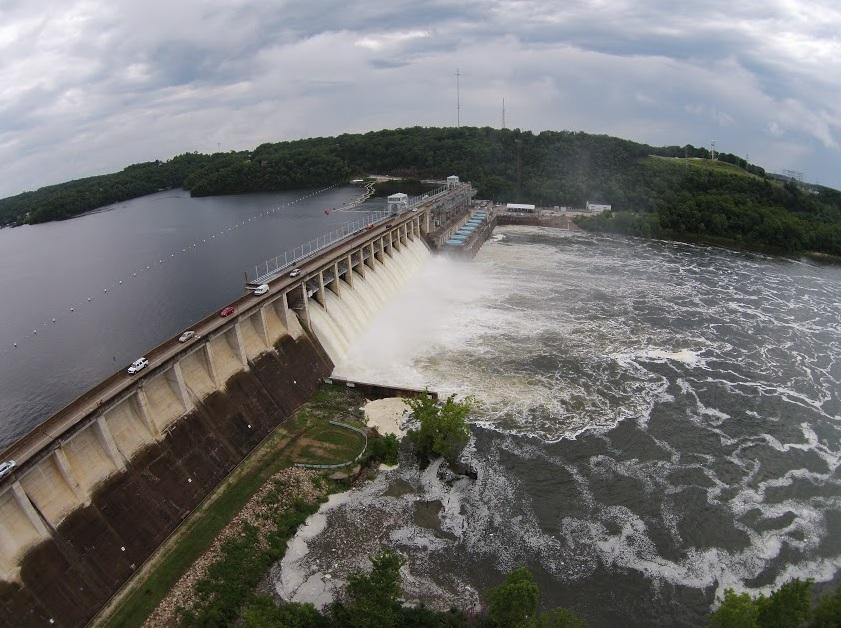 Image result for Dam at Lake Ozark MO