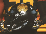 This was a salute to Veterans helmet worn during the Vandy game