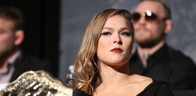 Ronda Rousey, blurry Conor McGregor