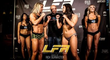 Mandy Polk vs Mackenzie Dern LFA 24 weigh-in