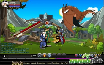 Top 10 Best Browser Games   MMOHuts Adventure Quest Worlds Dragon Screenshot